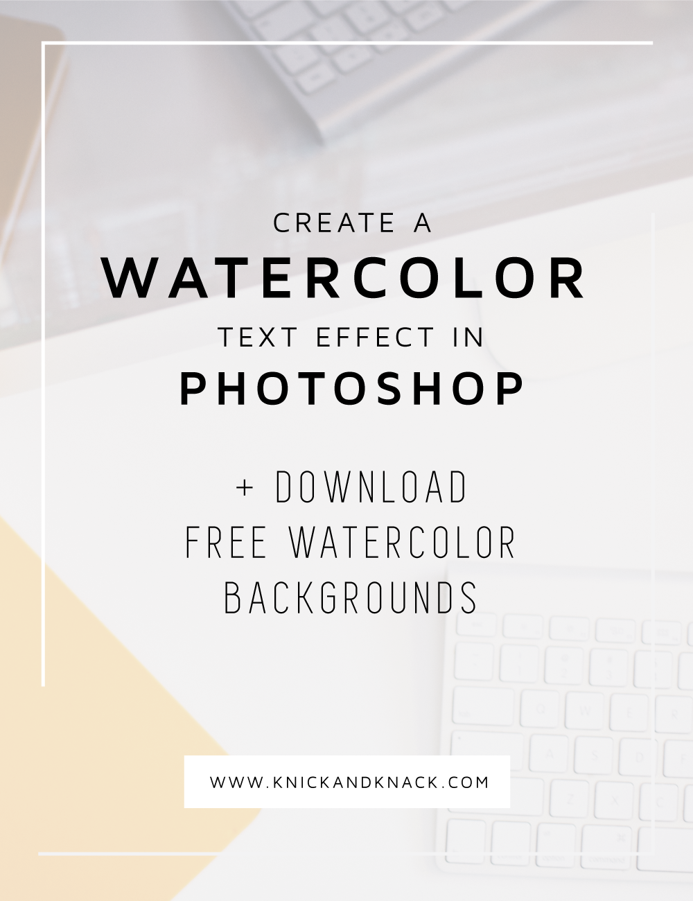 Watercolor text effect in Photoshop - The Blog Stop